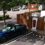 Tesla South Mimms Supercharger and PowerPack