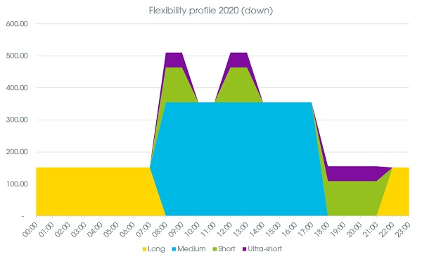 EV Flexibility turn down profile 2020